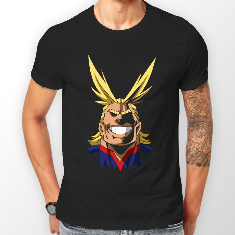All Might Face My Hero Academia Anime Unisex Tshirt T-Shirt Tee ALL SIZES