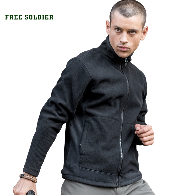 FREE SOLDIER Outdoor sports camping hiking tactical winter sweatshirt for men thickened fleece hoodie wear resistant