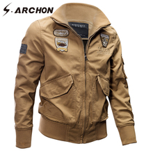 S.ARCHON Autumn Cotton Military Pilot Jackets Men Winter Airborne Tactical Aviator Outerwear Coats Male Air Force Bomber Jackets