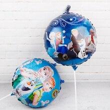 60Pcs 18Inch Elsa Anna Folie Ballonnen Frozen Queen Prinses Ballon Verjaardagsfeestje Decoratie Baby Shower Benodigdheden Kind Speelgoed