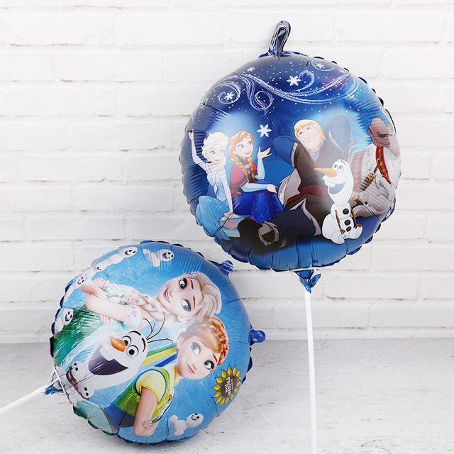 60pcs 18inch Elsa Anna foil balloons Frozen Queen Princess ballon birthday party decoration baby shower supplies child toys