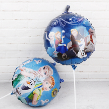 Ballons en aluminium Elsa, 60 pièces, 18 pouces, en forme de reine des neiges, décorations pour fête danniversaire, fournitures de réception prénatale, jouets pour enfants