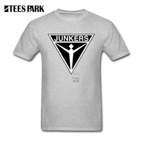Camicia bianca Per Gli Uomini Junkers Aircraft logo Adolescente Cotton Tee Shirt Uomo Nuovo Stile Naturale Fresco Tee Shirts