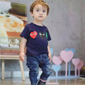 ins* newest 2016 unisex baby kids cotton T shirts summer family cloth children fashion T-shirt 1-6Y free shipping