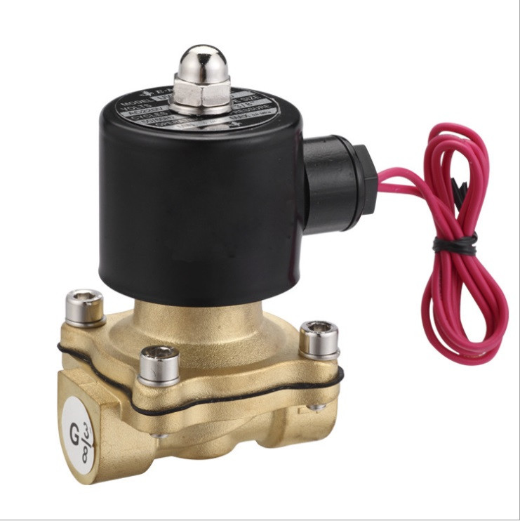 3/4'' Solenoid Valve water Brass 2 Way Valve Oil Gas Valves DC12V DC24V AC110V or AC220V 2w 040 10 g3 8 ac220v dc12v dc24v copper water electromagnetic valve solenoid valves normal close