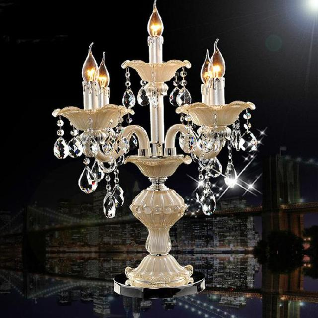 Salon Bar art interior lighting LED table lamp Wedding crystal candlestick Party candle holder Restaurant home lights & lighting