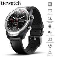 Freies Kopfhörer Globale Ticwatch Pro Tragen OS Smart Uhr NFC Google Zahlen Google Assistent IP68 Schicht Display Lange Standby-GPS uhr