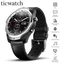 Первоначально Глобальный Ticwatch Pro одежда OS Смарт часы NFC Google платят Google помощник IP68 слоистых Дисплей долгого ожидания gps часы