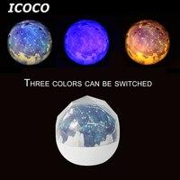 ICOCO 3 Farbe Romantische Star Sky Galaxy Projektor Nachtlicht Einstellbare Diamant Projektor Besten Geschenk Home Decor Drop Shipping