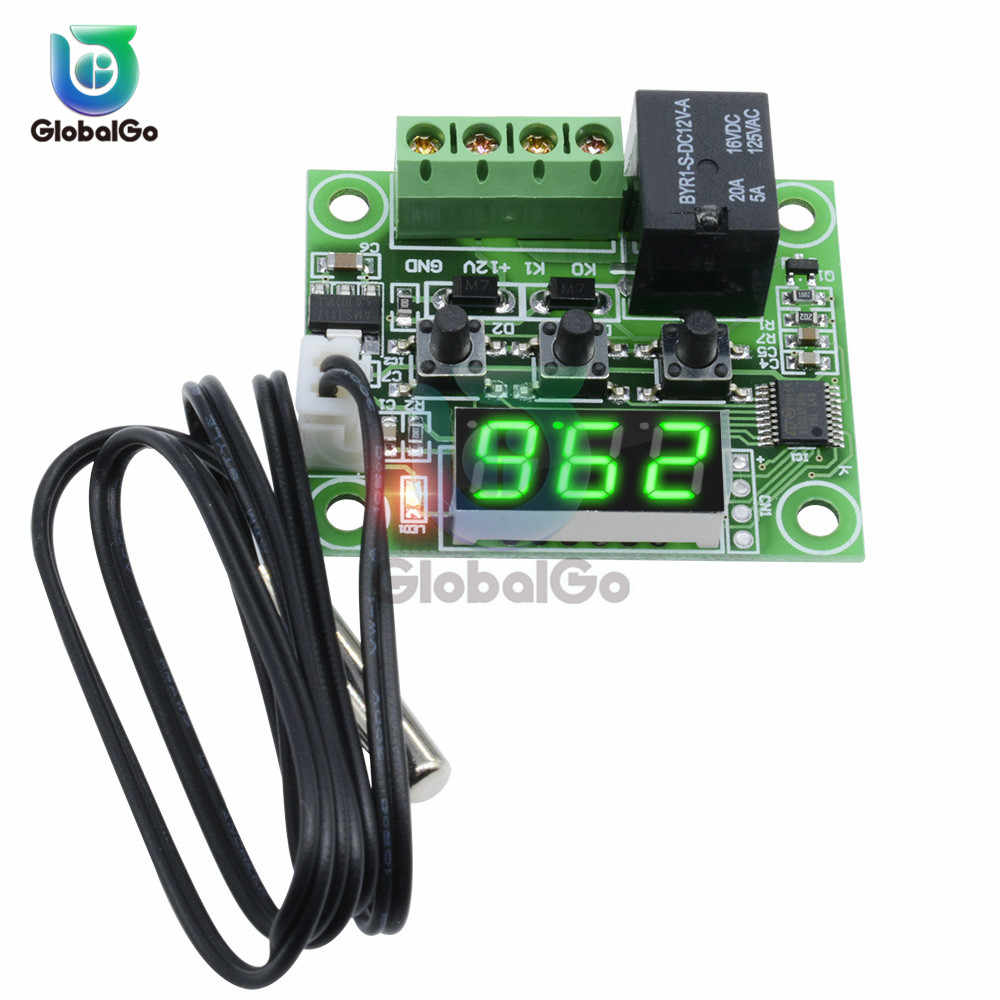 DC 12V W1209 Digital Thermostat Temperature Controller Regulator Thermoregulator NTC Sensor Case Heat Cool Temp Tester
