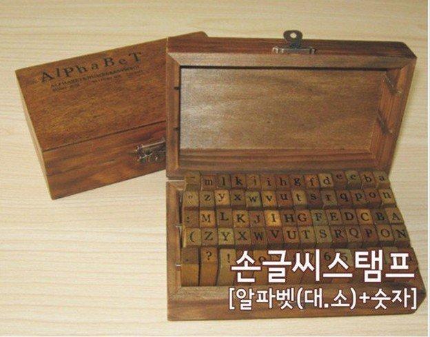 Regular script wood number  letter standard stamp gift set/mini wood stamp/multi-purpose Decorative DIY funny work Wholesale