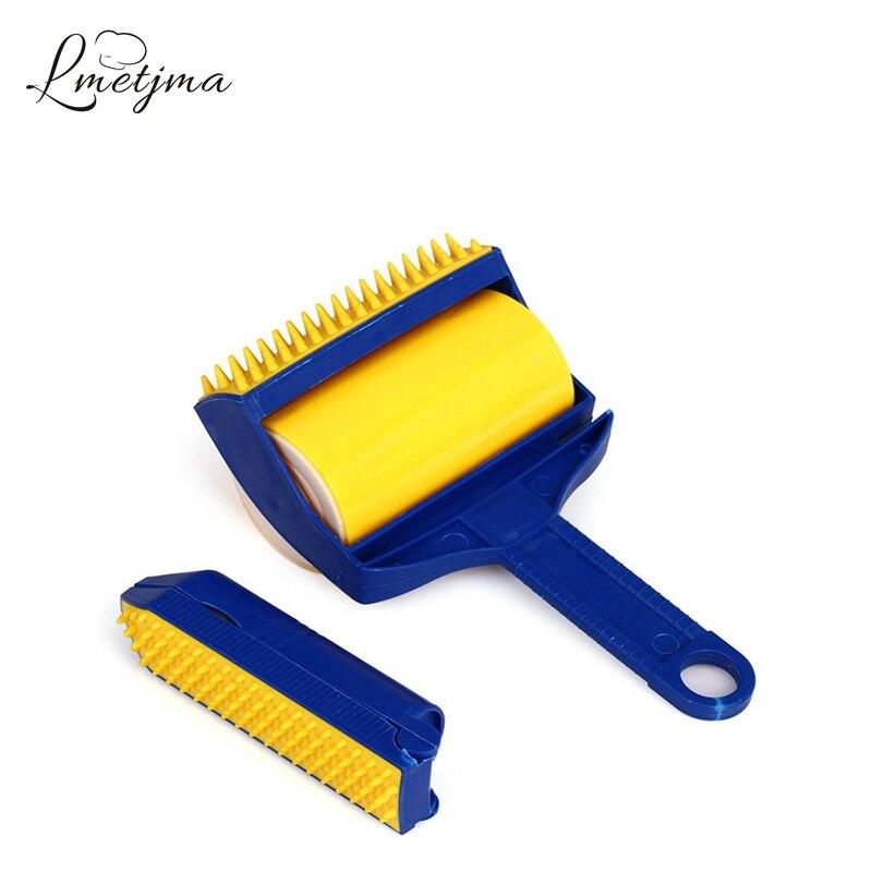 LMETJMA Reusable Sticky Buddy Cleaner Lint Sticking Roller Picker Pet Hair Remover Brush Cleaning Brush Dust
