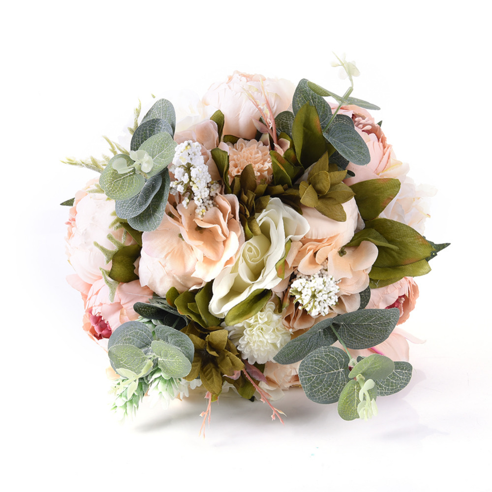 1 Big bunch of Wedding Flowers Lace Hand Bouquet Bridal Bouquets ...