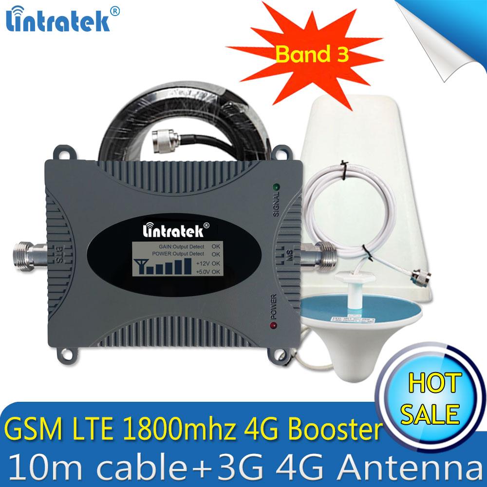 Lintratek LTE 1800mhz 4G FDD GSM Cellular Repeater Mobile Signal GSM Booster 1800mhz Repetidor De Sinal Celular 4G Amplifier