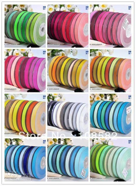"196 Colors Solid Color Ribbon Grosgrain roll 1"" 25mm Christmas Ornament Headband Accessoris"