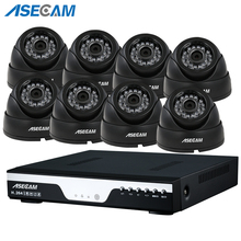 цена на 8ch HD 3MP CCTV Surveillance Kit DVR H.264 Video Recorder AHD indoor Black Dome 1920P Security Camera System Motion detection