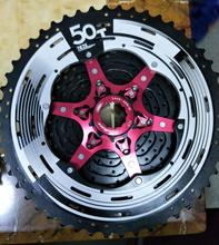 2017 SunRace CSMX80 11-50T 11 Speed MTB Bike Cassette Freewheel Wide Ratio bicycle mtb freewheel Cassette 11-50T 11speed  цены онлайн