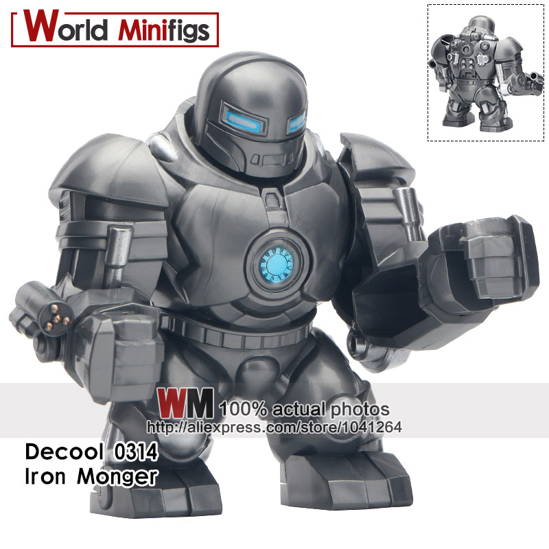 20PCS LOT Super Heroes Whiplash Avengers Thanos Iron Man Hulk Buster Action For Kids Gifts