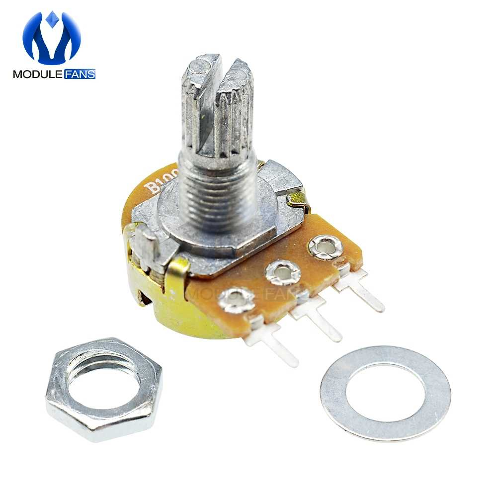 5PCS 3P 3PIN WH148 Rotary Potentiometer 1K 5K 10K 20K 50K 100K 500K Ohm Linear Taper 3 Pin Potentiometer For Arduino With Cap
