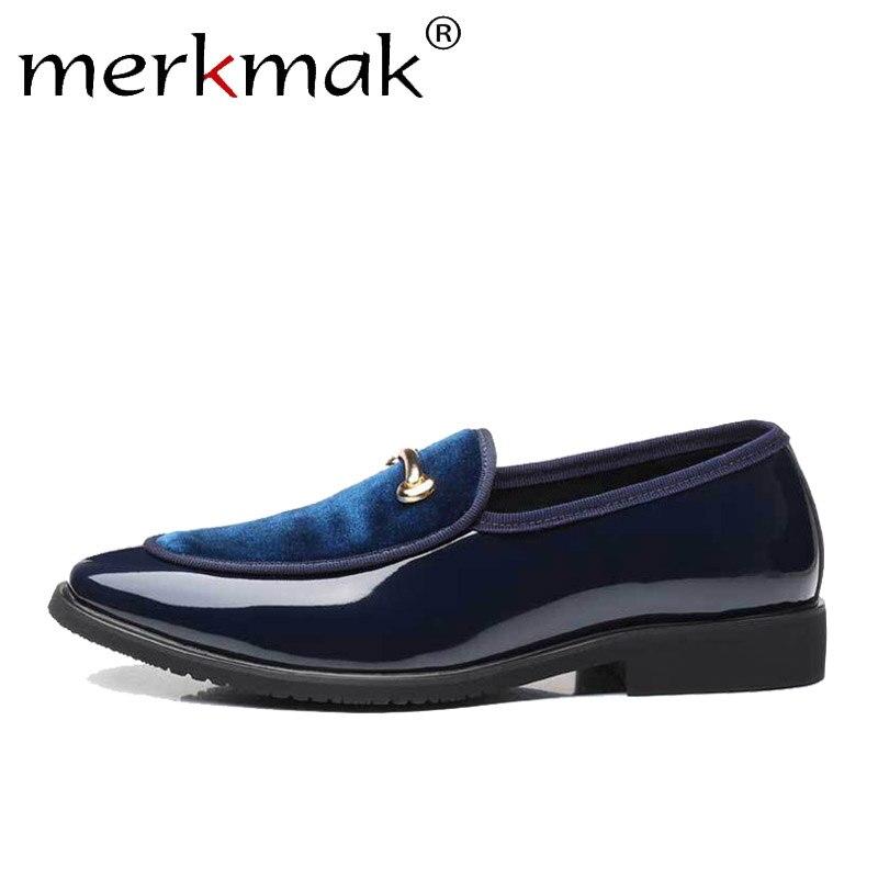 Merkmak   Suede     Leather   Loafers Men Retro Exquisite Slip On Wedding Male Dress Shoe Comfortable Shoes Men's Flat Big Size 38-48