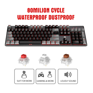 Image 2 - HEXGEARS GK715 Kailh BOX Switch Gaming LOL Keyboard Waterproof Hot Swap 104 keys Keyboard Pink Gaming Mechanical keyboard