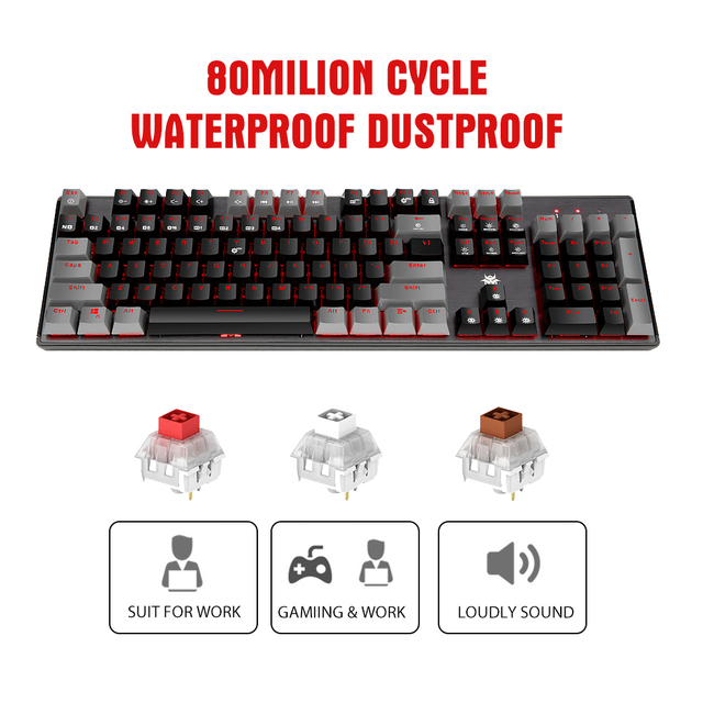 HEXGEARS GK715 Kailh BOX Switch Gaming LOL Keyboard Waterproof Hot Swap 104 keys Keyboard Pink Gaming Mechanical keyboard