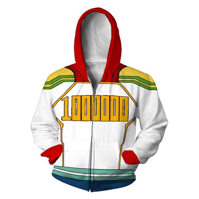 My Hero Academia Costumes All Roles Suit Sports Wear Outfit mirio 3D Printed Sweatshirt men zipper Cartoon hooded  Jackets