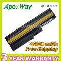 Apexway 11.1 В 4400 мАч 6 cell аккумулятор для Ноутбука Lenovo t60 t61 SL300 SL400 SL500 42T4560 42T4561 42T4566 42T5233 42T5234 42T5245