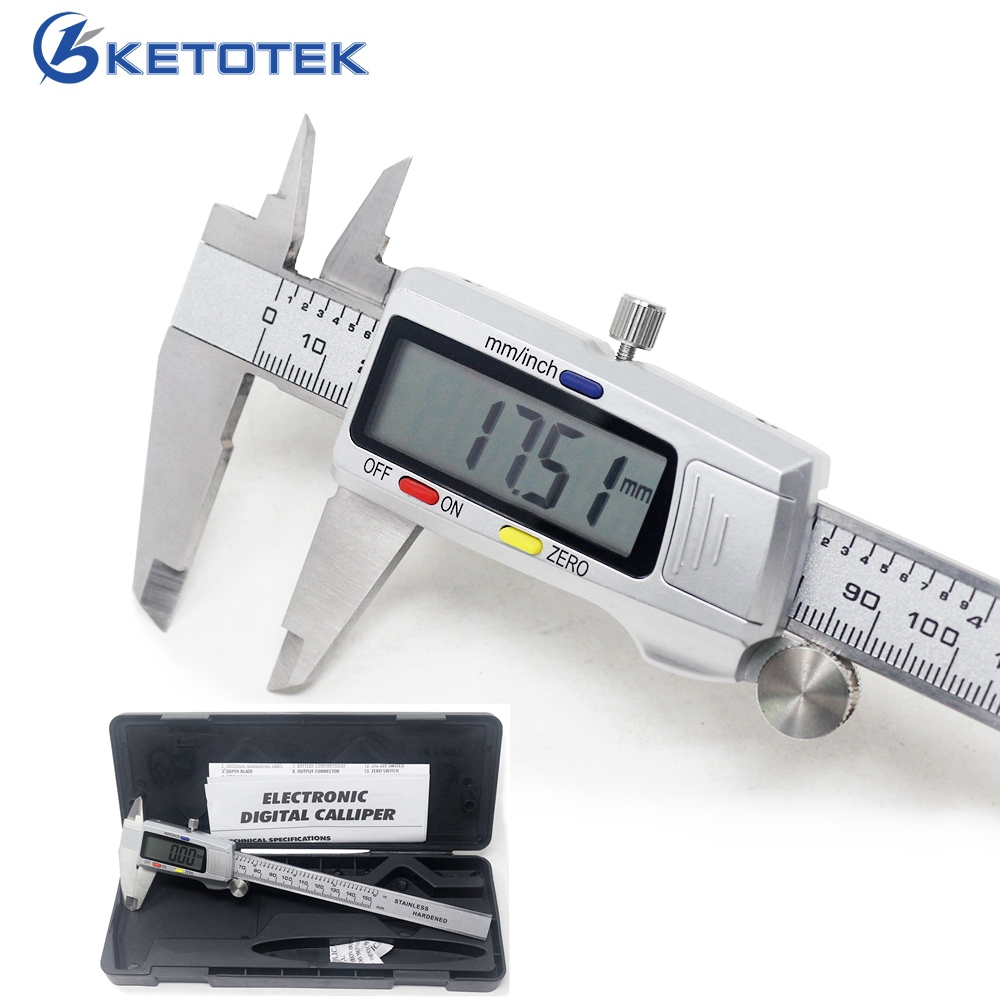 Stainless Steel Digital Caliper 6 Inch 150mm Metal Measuring Instrument Vernier Calipers Measuring Tool Messschieber Paquimetro