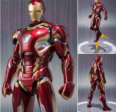 Nueva caliente 16 cm avengers super hero iron man mk43 movable figura de acción juguetes muñeca de regalo de navidad