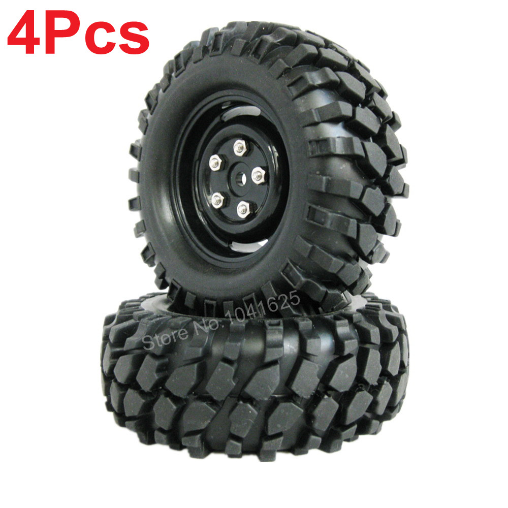 4pcs/lot 1.9 Tires 96mm Wheel 12mm Hex Hub For RC 1:10 Rock Climbing Crawler Car Tamiya HSP HPI AXIAL SCX10 Exceed 4pcs rc crawler truck 1 9 inch rubber tires