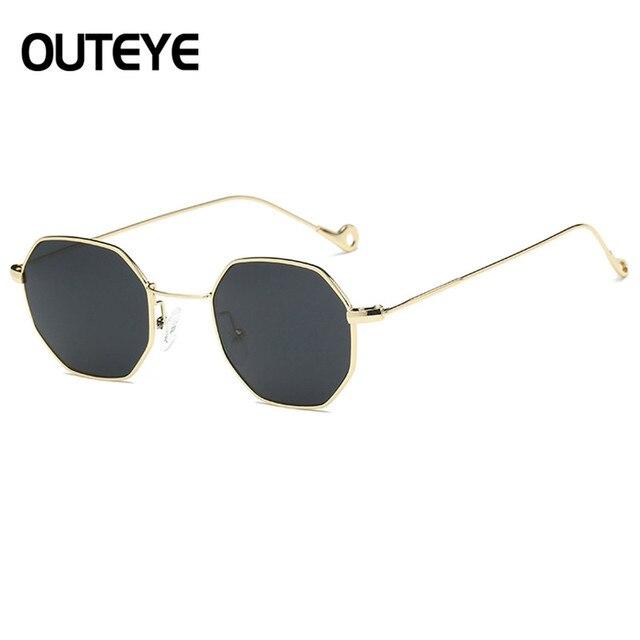 ebf45cecf5c2b Brand Designer Hexagon Sunglasses For Women Luxury Metal Eyewear Retro  Vintage Mens Clear Sun Glass 2017