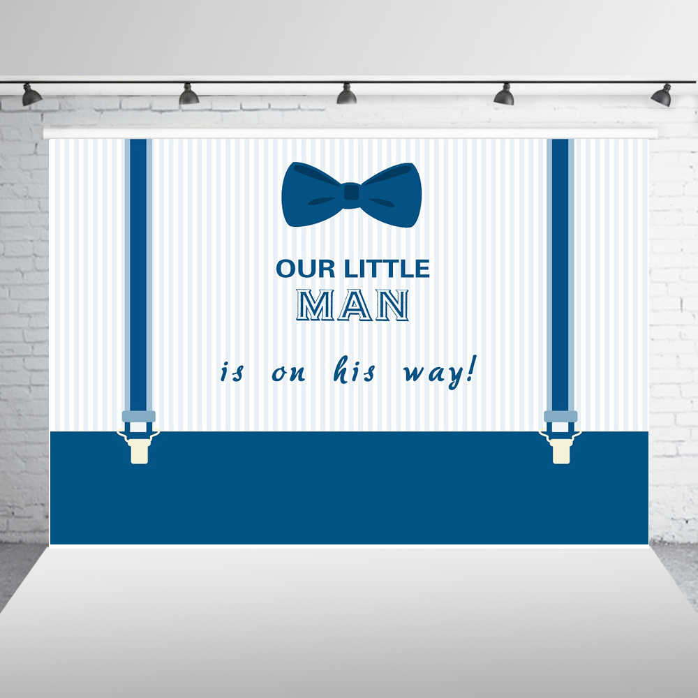 8x10 FT Photography Backdrop Rainbow Colored Happy Birthday Quote Typography on Blue Color Backdrop Print Background for Baby Shower Birthday Wedding Bridal Shower Party Decoration Photo Studio