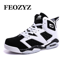 FEOZYZ Plus Size 37-47 Men Basketball Shoes Air Sole Damping Basketball Sneakers Chaussure Basket Femme Zapatillas De Basquet