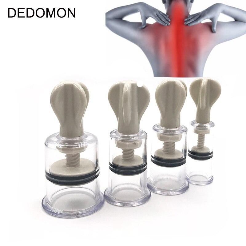 1 Pc 4 Größen Vakuum Twist Dreh Schröpfen Professionelle Nippel Erweiterung Keine Pumpe Saug Enlarger Körper Schröpfen Kunststoff