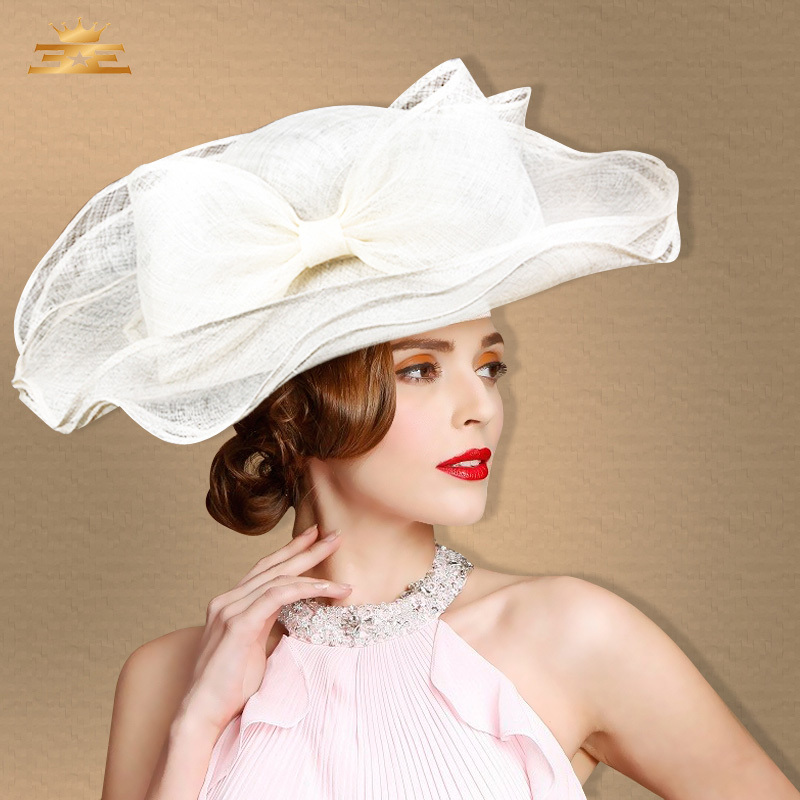 Exclusive sinamay hats large brim 21CM large three-layers tea party hats  kentucky derby shock new summer lady sun hats for women 41cd64caf0c