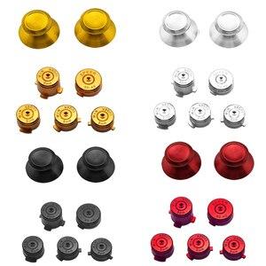 Image 1 - Aluminium Metal Mod Kit Thumbstick Joystick Analog Cap Bullet ABXY Guide Button for Xbox 360 Controller Gamepad Replacement