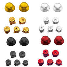 Aluminium Metall Mod Kit Stick Joystick Analog Kappe Kugel ABXY Guide Button für Xbox 360 Controller Gamepad Ersatz
