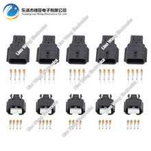 цена на 5 Sets 4 Pin Waterproof Male Female Electrical Wire Connector   DJ7041K-0.6-11/21  4P Car Plug
