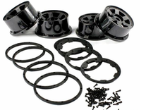 Front and Rear Wheel Rim With Beadlock Ring Set For 1/5 Hpi Baja Rovan KM 5B rc car parts