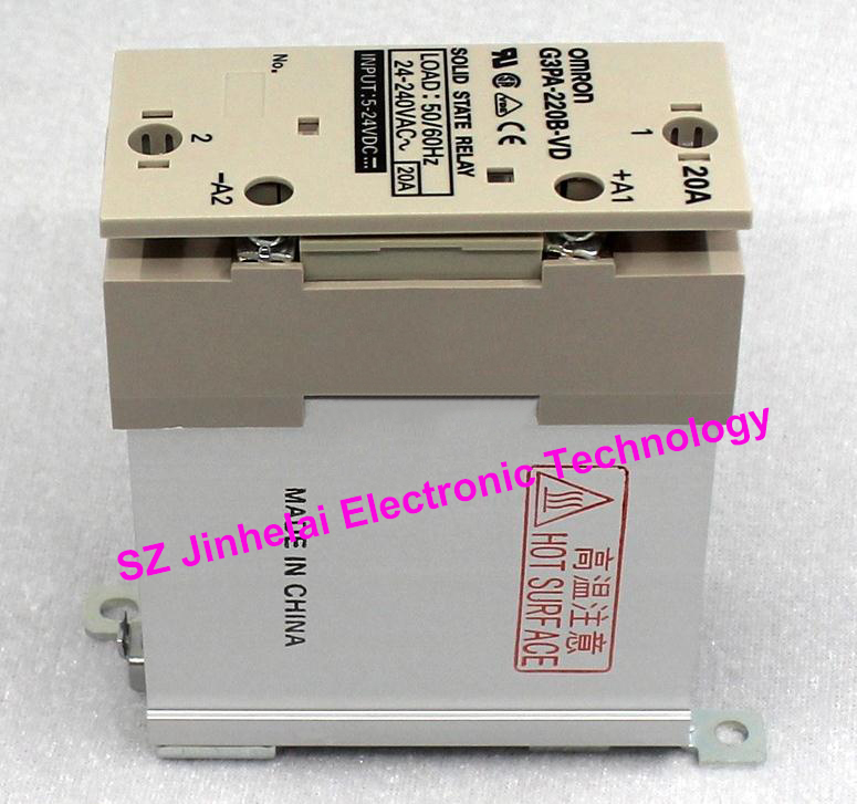 Authentic original G3PA-220B-VD OMRON Guide rail type solid state relay 5-24VDC DC5-24V [zob] original authentic imported omron relay g3fd x03s vd dc4 24 2pcs lot