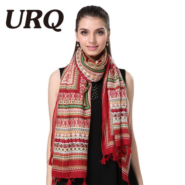 bohemina geometry tassel red scarfs winter print shawl tassel scarf women from india shawl scarves pashmina cotton voile scarf