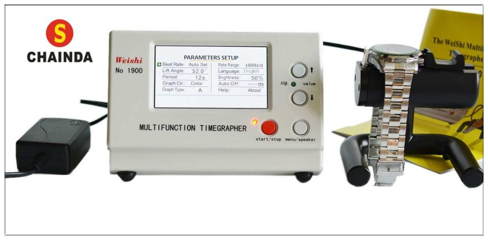 Weishi Multifunction Timegrapher Professional Machenical Watch Testing Machine NO.1900