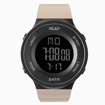 New RUILI simple fashion men sports electronic watch with luminous display multifunction hot дамски часовници розово злато