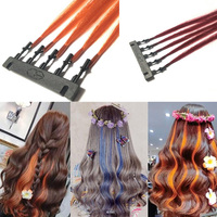 Second Generation 6D Hair Extensions Can Be Styled Salon Hair Braider 100G/lot