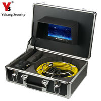 YobangSecurity 7 zoll LCD Kabel Unterwasser Kanal Reinigung Rohr Rohrinspektionskamera Ablauf Wasserdichte Rohr Kanalisation Kamera 12 Leds