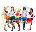 Mujeres libres del Envío Vestido de la Historieta Del Anime Japonés Sailor Moon Marinero Uniforme Escolar Cosplay Traje