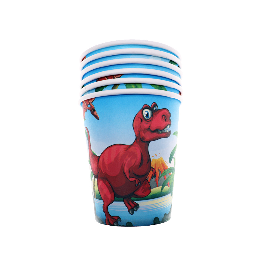 Dieren Wegwerp Servies Rode Dinosaurus Feestartikelen Happy Dinosaurus Birthday Party Decors Kids Party Leverancier