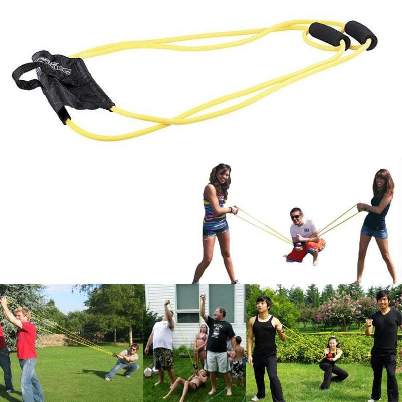 Kids Outdoor Toys Water Balloons Launcher Ball Game Handy Rope Puller Bands Slingshot Summer Funny Water Balloons Bombs Toys