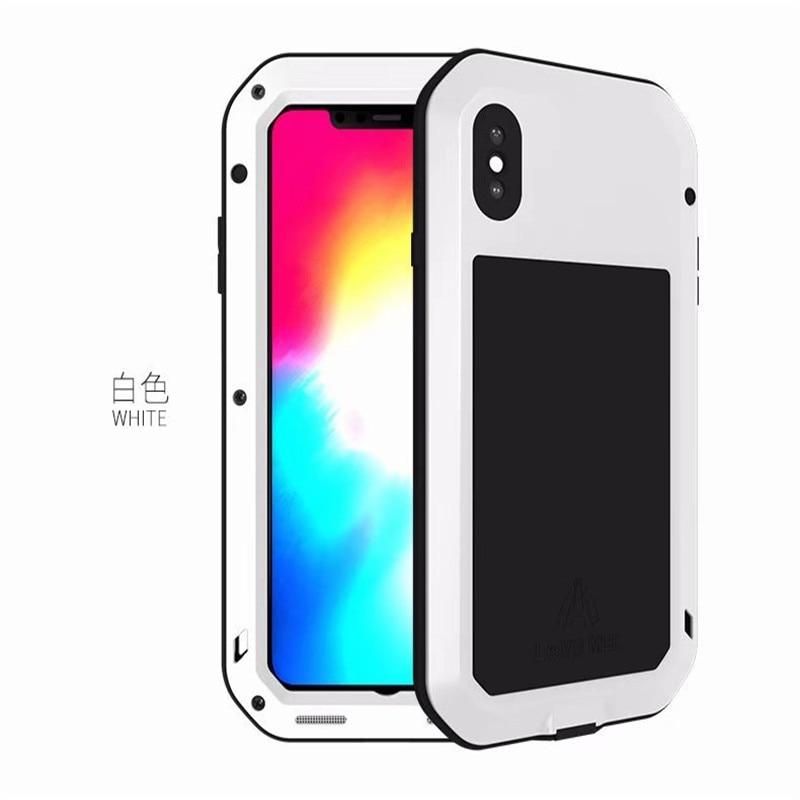 1 шт. чехол для iPhone Xs максимально сверхпрочный защиты Броня металлический Алюминий противоударный пылезащитный чехол для iPhone X XR Xs Max - Цвет: White